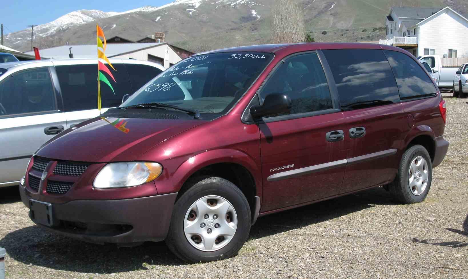 Dodge caravan 2001 52 300 auto dealer low milage christensen auto