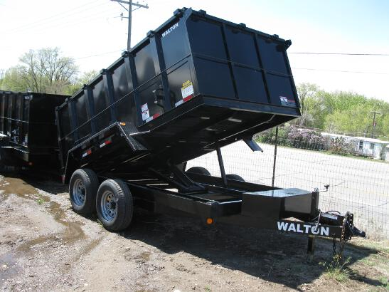 Walton Dump Trailer 14 Foot Tall Sided Dump Trailer 10.4K Axle GVW In Stock Sale Priced at $8598.oo